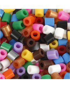 Putkihelmet, avattavat, koko 5x5 mm, aukon koko 2,5 mm, medium, perusvärilajitelma, 1100 laj/ 1 pkk