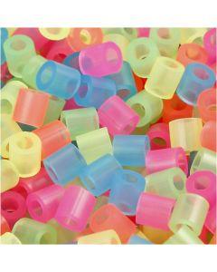 Putkihelmet, koko 5x5 mm, aukon koko 2,5 mm, medium, neonvärit, 5000 laj/ 1 prk