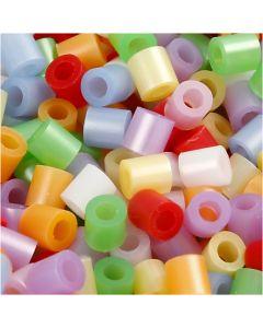 Putkihelmet, koko 5x5 mm, aukon koko 2,5 mm, medium, helmiäisvärit, 30000 laj/ 1 pkk