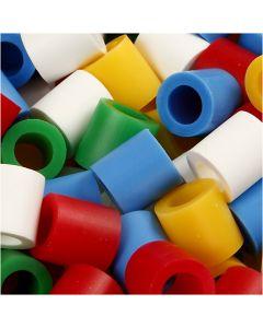Putkihelmet, koko 10x10 mm, aukon koko 5,5 mm, JUMBO, perusvärilajitelma, 550 laj/ 1 pkk