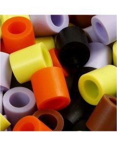 Putkihelmet, koko 10x10 mm, aukon koko 5,5 mm, JUMBO, syysvärit, 550 laj/ 1 pkk