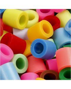 Putkihelmet, koko 10x10 mm, aukon koko 5,5 mm, JUMBO, Lisävärit, 2450 laj/ 1 prk