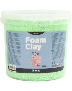 Foam Clay®, kimalle, vihreä, 560 g/ 1 prk