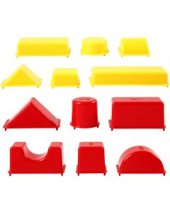 Hiekkamuotit, geometriset, koko 3,5-9,5 cm, 12 kpl/ 1 pkk