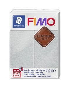 FIMO® Leather Effect, dove grey (809), 57 g/ 1 pkk