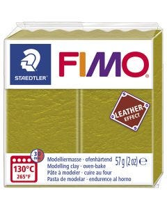 FIMO® Leather Effect, olive (519), 57 g/ 1 pkk