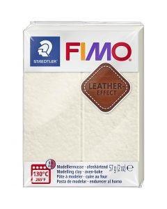 FIMO® Leather Effect, Ivory (029), 57 g/ 1 pkk