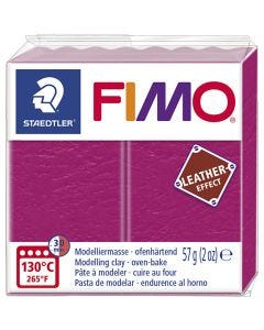 FIMO® Leather Effect, berry (229), 57 g/ 1 pkk