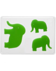 Valumuotit, norsu, Kork. 6+8+10 cm, syvyys 9 mm, koko 14,9x22 cm, 1 kpl