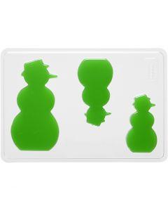 Valumuotit, lumiukko, Kork. 6+8+10 cm, syvyys 9 mm, koko 14,9x22 cm, 1 kpl