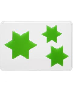 Valumuotit, tähti, Kork. 6+8+10 cm, syvyys 9 mm, koko 14,9x22 cm, 1 kpl