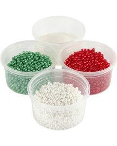 Pearl Clay®, vihreä, punainen, valkoinen, 1 set