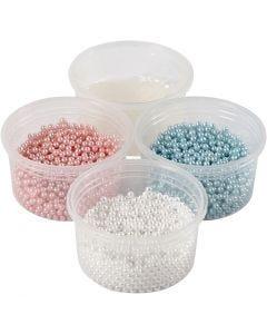 Pearl Clay®, vaaleansininen, vaaleanpunainen, luonnonvalkonen, 1 set, 3x25+38 g