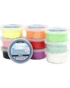 Foam Clay®, kimalle, värilajitelma, 10x35 g/ 1 pkk