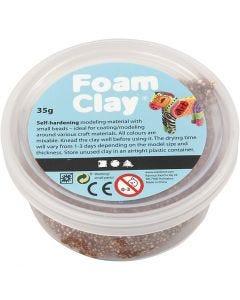 Foam Clay® Helmimassa, ruskea, 35 g/ 1 tb