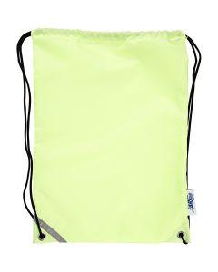 Nailonkassi, koko 31x44 cm, fluoresoiva keltainen, 1 kpl