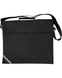 Koululaukku, koko 36x31 cm, musta, 1 kpl