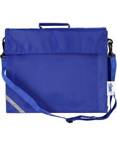 Koululaukku, koko 36x31 cm, sininen, 1 kpl