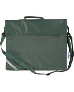Koululaukku, koko 36x31 cm, vihreä, 1 kpl