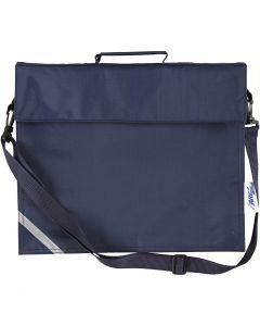 Koululaukku, koko 36x31 cm, tummansininen, 1 kpl