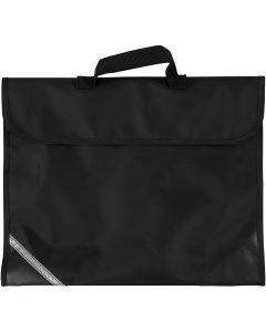 Koululaukku, koko 36x29 cm, musta, 1 kpl