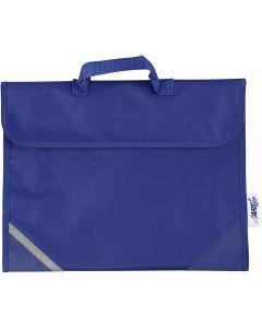 Koululaukku, koko 36x29 cm, sininen, 1 kpl