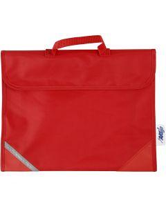Koululaukku, koko 36x29 cm, punainen, 1 kpl