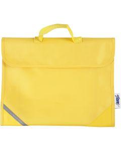 Koululaukku, koko 36x29 cm, keltainen, 1 kpl