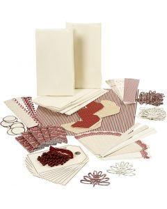 Vivi Gade -tuplapakkaus, kulta, punainen, valkoinen, 1 set
