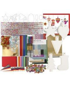 Joulukoristepakkaus, värilajitelma, 1 set