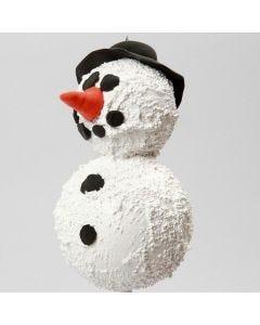 Lumiukko tehty styroxpallosta