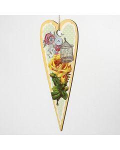 Keväisiä koristeita puukuvioista ja decoupagekuvista
