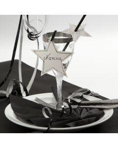 Kartonkiset lasin koristeet uudeksi vuodeksi
