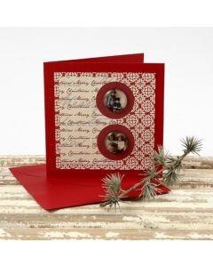 Tunnelmallinen cabochon-joulukortti