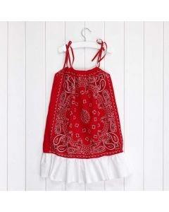 Bandanoista tehty mekko