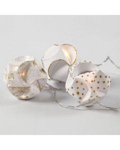 LED- valoköynnös paperisuikalepalloista