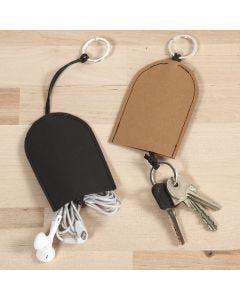 Pussi avaimille ja kuulokkeille nahkapaperista