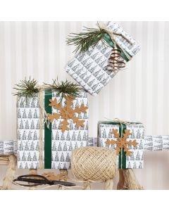 Nahkapaperilla koristellut joulupaketit