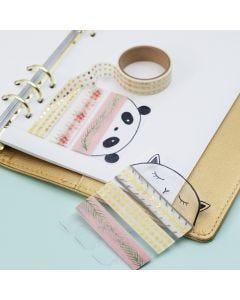 Pidike kuvioteipille päiväkirjaan tai kalenteriin