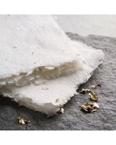 Handmade paper with gold and glitter