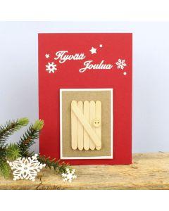 Tonttuovi joulukortissa