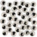Liikkuvat silmät, liimattavat, halk. 12 mm, 1000 kpl/ 1 pkk