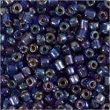 Rocaille-siemenhelmet, halk. 4 mm, koko 6/0 , aukon koko 0,9-1,2 mm, sininen, 25 g/ 1 pkk
