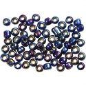 Rocaille-siemenhelmet, halk. 4 mm, koko 6/0 , aukon koko 0,9-1,2 mm, sininen, 500 g/ 1 pkk