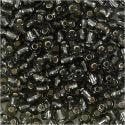 Rocaille-siemenhelmet, halk. 4 mm, koko 6/0 , aukon koko 0,9-1,2 mm, kirkas harmaa, 25 g/ 1 pkk