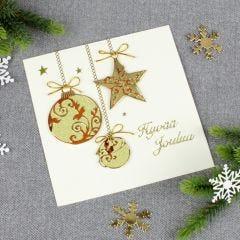 Kultaiset joulupallot