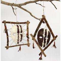 Kehystetty afrikkalainen naamio