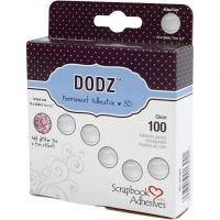 Liimatäplät Dodz 3L, halk. 12 mm, paksuus 2 mm, 100 kpl/ 1 pkk