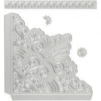 Kuvioterä, Koristeelliset kulmat, koko 14,5x1,5 cm, 1 kpl