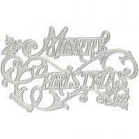 Kuvioterä, Merry Christmas, halk. 11,5x7,2 cm, 1 kpl